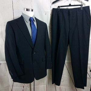 Graham & Gunn 41R Deep Blue Striped 2pc Suit